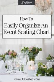 Table Seating Chart For Wedding Reception Template