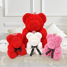 2019 rose teddy bear 40cm valentine day gift artificial roses bear wedding party decoration decoration flower rose teddy bear from thecute 40 21 dhgate