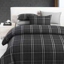 grey plaid comforter. Contemporary Comforter Modern Boys Leisure Black And Grey Plaid Bedding Sets Manly Duvet Cover Set  FADFAY Modern Intended Comforter
