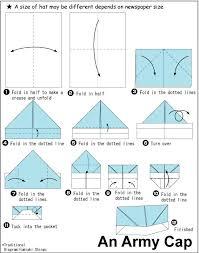 army cap paper hat origami tutorial