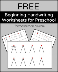 Practice your cursive letter writing skills with our free printable alphabet charts for kids. Level 2 Handwriting Worksheets Uppercase The Measured Mom