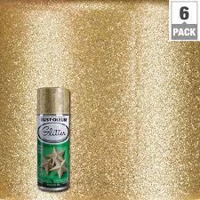 gold glitter spray paint 6 pack
