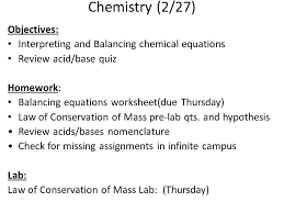 balancing chemical equations 14 chemistry