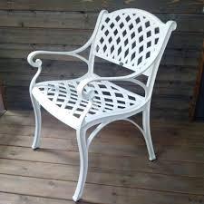 white iron garden furniture. Kate-metal-garden-chair-self-assembly-cast-aluminium- White Iron Garden Furniture T