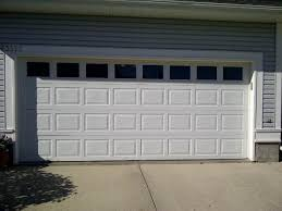 double garage doorStandard Double Wide Insulated Steel Garage Door with Windows East
