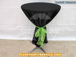 black round tablecloth with bow for round cocktail table