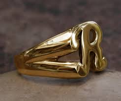 R Letter Ring Designs Details About Classy Solid 14k Gold R Letter Name Initial Signet Ring Mens Women A True Beauty
