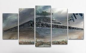 5 piece canvas prints. Exellent Prints 5PCS Framed Star Destroyer Canvas Prints  5 Piece Wars Battle  Artwork On With C
