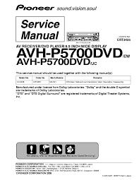 avh p5700dvd user manual Pioneer Avic pioneer avh p5700dvd sm service manual download schematics eeprom rh elektrotanya com pioneer avh 4700 pioneer avh