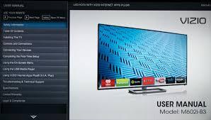 vizio tv manual. vizio m602i-b3 manual. click to enlarge tv manual e