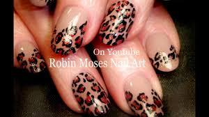 Nail Art Design Animal Print Easy Leopard Print Nails Tan And Black Traditional Nail Art Design Tutorial