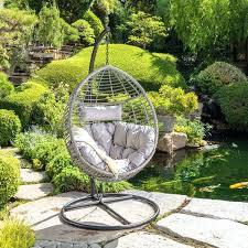 hanging wicker basket chair outdoor wicker hanging basket chair with cushions by knight home resin wicker