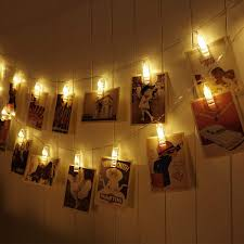 Photo Clip String Lights Walmart 40 Led Photo Clips String Lights Christmas Indoor Fairy