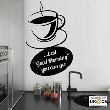 coffee good food morning kitchen wall art stickers