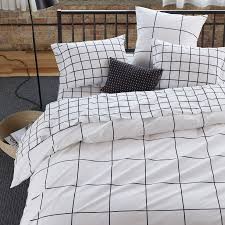 grid black duvet cover queen share your style or the look unisonhome upload