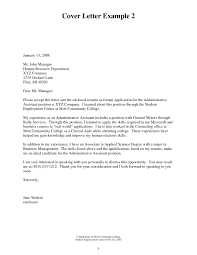 Cover Letter For Administrative Assistant At 2018 Resignation Letter