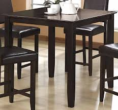 wylie counter height dining room set with black chairs