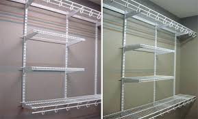 awesome shelf brackets closet shelving small size series rubbermaid wire home depot canada