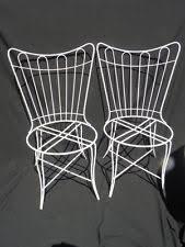 homecrest patio furniture cushions. pr. vintage, retro, mid-century modern homecrest outdoor wire frame patio chairs furniture cushions