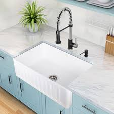 White Apron Kitchen Sink Acrylic Sinks Kitchen Sinks The Home Depot With White Kitchen Sink