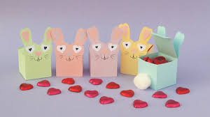 Gift Box Decoration Ideas Pastel coloured bunny shaped gift boxes with chocolate hearts 65