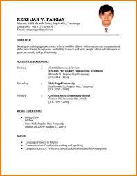 Resume For Job Application Filipino 2014freerun5 Com
