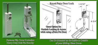 keyed patio door lock detail