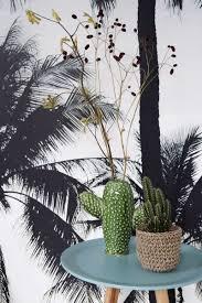 Bolcom Estahome Fotobehang Palmbomen Blauw Zwart En Beige 158849