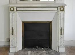antique louis xvi style fireplace in carrara marble with gilt bronze ornaments