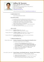 Resume Letter Philippines Jobsxs Com