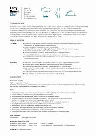 Resume Sample Personal Information Best Of Personal Chef Resume Cool Personal Chef Resume Sample 24 Waiter