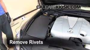 interior fuse box location 2006 2011 lexus gs350 2007 lexus 2006 2011 lexus gs350 engine air filter check