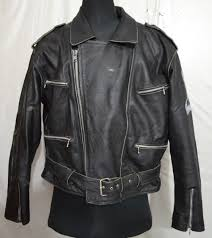 men s cruiser motorcycle thick leather jacket with hand painted on left sleeve p 25 2 2 kg