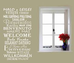office wall decal. Welcome Decals In International Languages Vinyl Wall Stickers, Global Greetings Decor, Office Decal