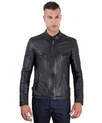 daniel black nappa lamb quilted leather biker jacket