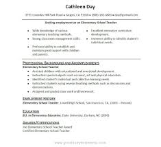 Resume Examples For Teachers With No Experience Cover Letter Samples For Teachers With No Experience Image 20