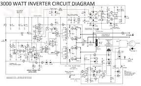 3000 watt inverter circuit diagram electronics pinterest rv converter installation at Vintage Power Inverter Converter Wiring Diagram