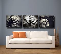astounding design black and white wall canvas ideas features three wall canvas panels and white black