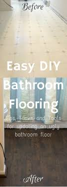 how to redo bathroom floor. Easy DIY Bathroom Flooring Renovation How To Redo Floor A