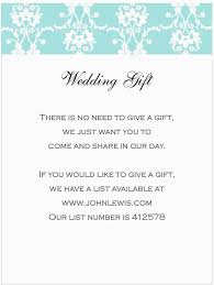 sle wedding invitation wording monetary gifts inspirationa
