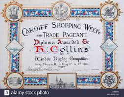 diploma for shop window display competition cardiff history  diploma for shop window display competition cardiff 1922 history wales