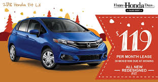 2018 honda lease deals.  deals new 2018 honda fit lx at 36 month36k mile lease offers include all  applicable incentives 1999 due at signing includes down payment first payment and  intended honda lease deals