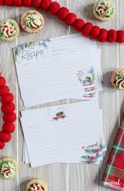 Printable Christmas Recipe Cards Printable Recipe Cards For Christmas Free Holiday Download