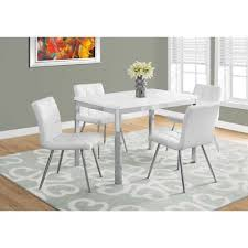 monarch specialties 48 in rectangular dining table chrome white small