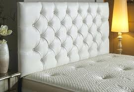 tufted headboard with rhinestone buttons.  Rhinestone Diamond Tufted Bed Headboard With Rhinestone Buttons Millet King Throughout