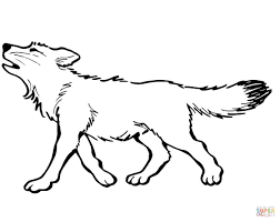 Small Picture Coloring Pages Animals Wolf Coloring Page For Kids Picture Wolf