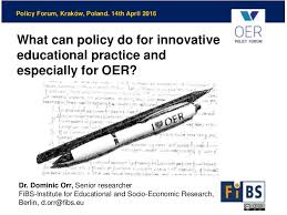 What can policy do for innovative educational practice and expecially…