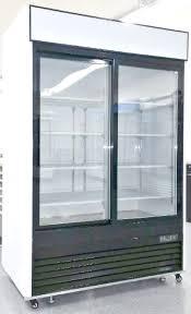 Glass Refrigerator Amazoncom 55 Refrigerator Double Glass Door Reach In Commercial