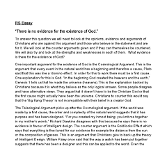 there is no evidence for the existence of god discuss gcse  document image preview