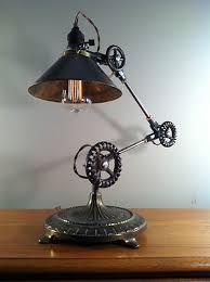 vintage industrial desk lamp machine age task light cast iron steampunk ebay add task lighting